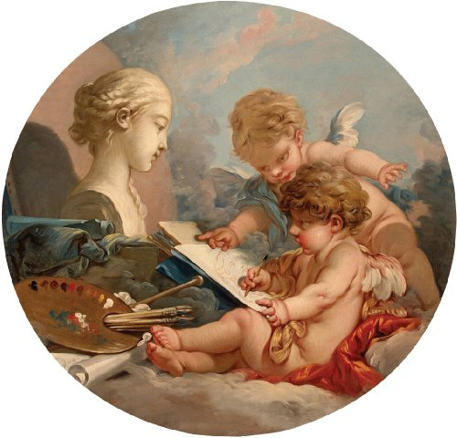 Artifact Puzzles - Boucher Cupids Wooden Jigsaw Puzzle