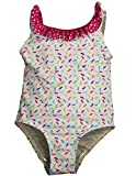 Bunz Kidz - Infant Girls Sprinkles 1 - Bañador, color blanco, Multi 35184 - 12 meses Color: white-multi Sprinkles Tamaño: 12 Meses (Baby/Babe/Infant - Little Ones)