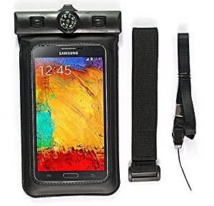 Ipow Waterproof Swimming Case Bag Pouch with a Compass+ an Armband + a Neck Strap - Fit for Iphone 5s, 5c, 5, 4s, Galaxy S5, S4, S3, Note 3, Nexus 4, 5, 7, 10, HTC One, One 2 (M8), Motorola, Lg Optimus, Moto X and More - Swim