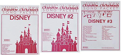 Lap Harp Music: Disney #1, #2, #3, Songsheets for Zither, Music Maker (Music Maker Lap Harp compare prices)