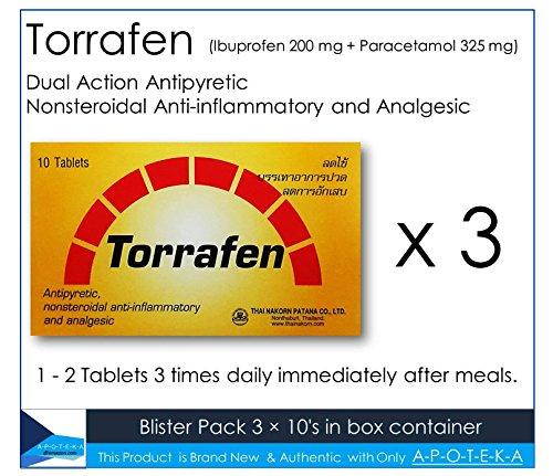 dual-action-antipyretic-analgesic-torrafen-3-x-10s-contain-ibuprofen-200-mg-paracetamol-325-mg-for-h