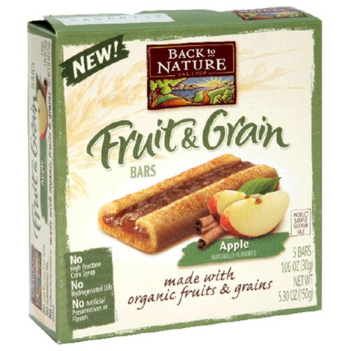 Buy Back to Nature Fruit & Grain Bars, Apple, 5-Count Bars (Pack of 10) (Back to Nature, Health & Personal Care, Products, Food & Snacks, Breakfast Foods)