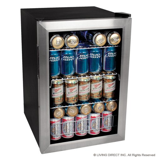 EdgeStar 84 Soda Can Beverage Cooler Fridge - Stainless Steel