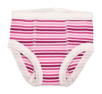Under the Nile Organic Training Pants (12-24 M, Raspberry Stripe)