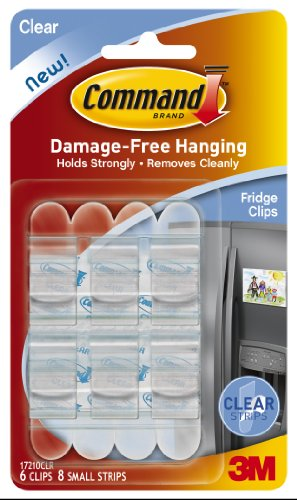 3M Command Fridge Clips, Clear, 6-Clip, 4-Pack front-407261