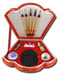 Chinese Calligraphy writing set fan s...
