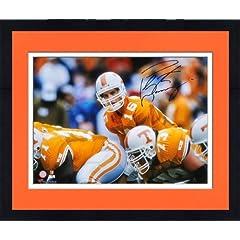 Framed Peyton Manning Tennessee Volunteers Autographed 16