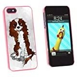 Cavalier King Charles Blenheim - Dog - Snap On Hard Protective Case for Apple iPhone 5 5S - Pink