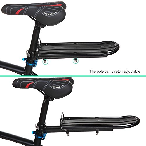 Big Save! Ancheer Aluminum Alloy Bicycle Rear Luggage Rack Retractable Bicycle Rear Seat Rack