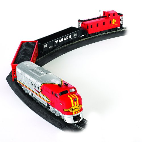 Bachmann Trains Santa Fe Flyer Ready-to-Run HO Scale Train Set (Model Trains Ho Scale Locomotives compare prices)