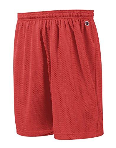 Champion Pantaloncini da maglia in poliestere Verde scuro-ATHLETIC-S 3,7 G. di maglia in poliestere rosso Escarlata Small