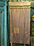 India Curtains Yellow Gold Silk Sari Curtain Window Dressing Drape 1 Panel