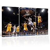 image de basket-ball, toile de 3 pièces (Total Taille: 120x80 cm), d'impression d'art de haute qualité comme une...