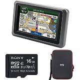 Garmin Zumo 665LM GPS Motorcycle Navigator with XM Receiver Bundle includes Garmin Zumo 665LM GPS, 16GB micro SDHC Memory Card and PocketPro XL Hardshell Case