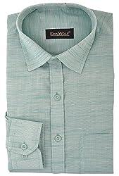 Edinwolf Men's Formal Shirt (EDFR722_41, Green, 41)
