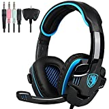 SADES Stereo Gaming Headset, SA708 GT Version Over Ear Computer Headphone With Mic For Laptop PC/Mac/PS4/iPad/...