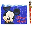 Disney Mickey Mouse Spiral Autograph Book Blue and 1 Beatiful Pen