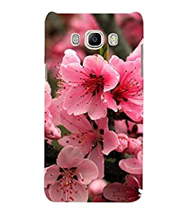 Bright Pink Flower 3D Hard Polycarbonate Designer Back Case Cover for Samsung Galaxy J7 (6) 2016 Edition :: Samsung Galaxy J7 (2016) Duos :: Samsung Galaxy J7 2016 J710F J710FN J710M J710H