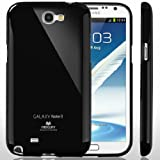 SQ1 [Mercury] Slim Fit Flexible TPU Case for Samsung Galaxy Note 2 (Black)