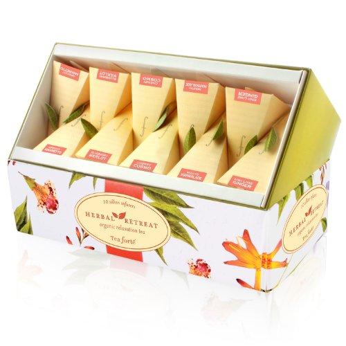 Tea Forte Ribbon Box Herbal Retreat - 20 Pyramid