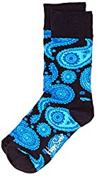 Happy Socks Men's Paisley Calf Socks (8904214908034_PA01-068_Medium_Navy)