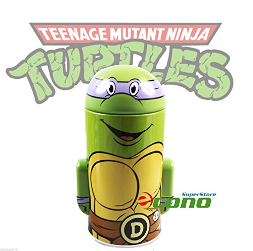 Collectable Teenage Mutant Ninja Turtle Tin Box Coin Piggy Bank Donatello - 1