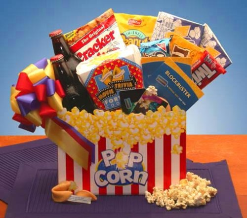 Movie Mania Gift Basket w/$10 Blockbuster Gift Card
