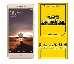 Kohinshitsu Tempered Glass Screen Guard for Redmi 3S / Redmi 3 / Redmi 3S Prime / Redmi 3 Prime (Gold Series)