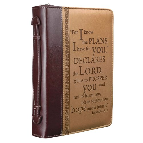 """I Know The Plans"" Two-Tone Bible / Book Cover - Jeremiah 29:11 (Large)"