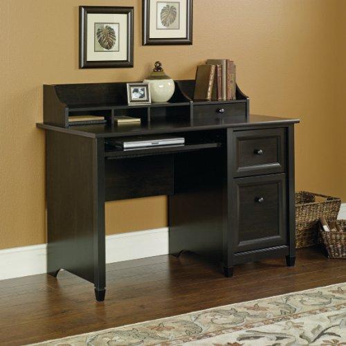 estate black computer desk with file drawer and hutch great fit for. Black Bedroom Furniture Sets. Home Design Ideas