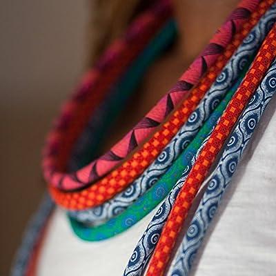 African Fabric Necklace Set • Shweshwe Necklace • African Jewellery • African Necklace • Fabric Necklace • Ethnic Choker • Ethnic Necklace • Ethnic Jewellery