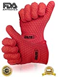 ♛ Best BBQ Gloves ★ 1 Pair Of Silicone High Heat Resistant Grill Gloves ★ Great For Baking, Cooking, Grilling, Smoking, Camping, Barbecue, Oven, Kitchen, Fireplace, Microwave And More ★ Perfect As Potholders, Oven Mitts Or Oven Mittens ★ Easy To Remove And Clean ★ FREE Lifetime Guarantee! ★ Non-Slip, Waterproof, High-Performance Insulated working Glove ★ Will Protect You From Avoidable Burns ★ Safely Handle Hot Objects And Hot Food With Our Super Grip Protective FDA APPROVED ECO GLOVES™ ♛