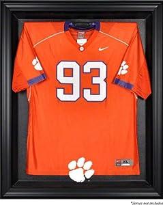 Clemson Tigers Mahogany Framed Logo Jersey Display Case by Sports Memorabilia