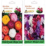 Alkarty Helichrysum Mixed And Sweet Peas Spencer Mixed Seeds PacK Of 20 (Winter)