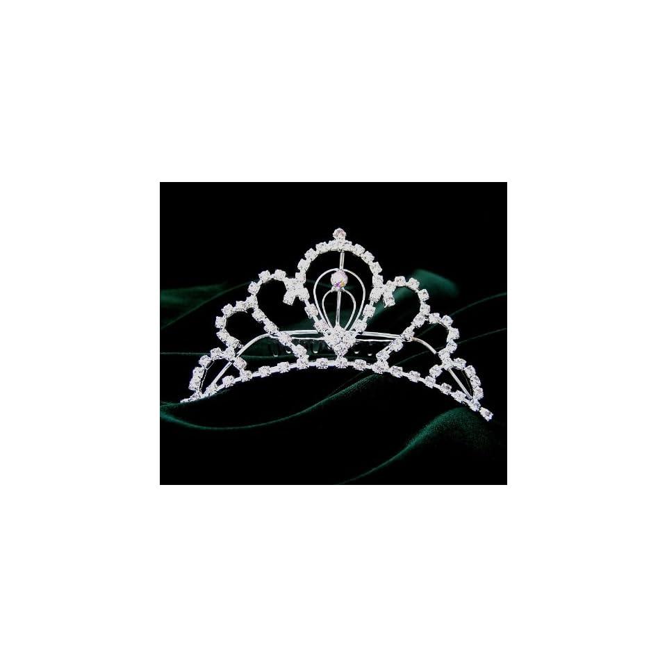 Wedding Bridal Prom Crystal Rhinestone Tiara hair comb 05