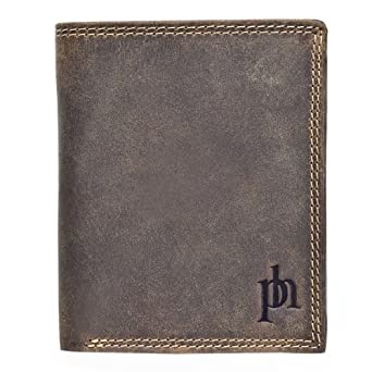 Stylish Hunter Leather Wallet from Prime Hide - FLG 8503 Distress Wallet - Brown