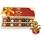Chocholik Belgium Chocolates - 16pc Designer Box Of Truffles With Ganesha Idol - Diwali Gifts