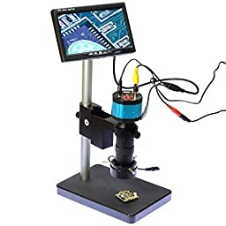 2.0mp Hd 2 In1 Industry Digital Microscope Camera 8x-100x Zoom C-mount Lens with Table Stand 7\