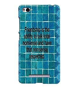 PRINTVISA Quotes Friendship Case Cover for Xiaomi Mi4i