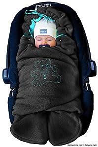 ByBoom - Manta arrullo de invierno para bebé, es ideal para sillas de coche (p.ej. de las marcas Maxi-Cosi y Römer), para cochecitos de bebé, sillas de paseo o cunas; LA MANTA ARRULLO ORIGINAL CON EL OSO marca ByBoom
