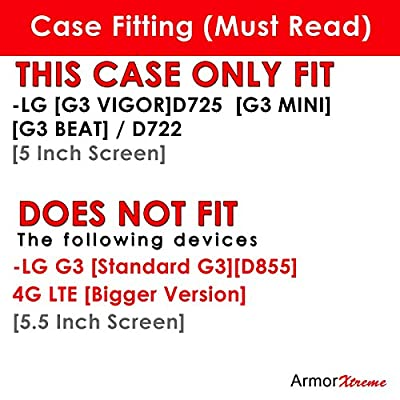 LG [G3 VIGOR][D725] / [G3 MINI] / [G3 BEAT] / D722 [5 Inch Screen] Case, [ArmorXtreme] Hybrid Armor KickStand Dual Layer Protection Case - E by ArmorXtreme