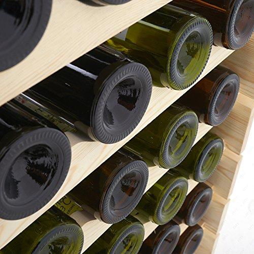 4 Family 91 Bottles Holder Wine Rack Stackable Storage 7 Tier Solid Wood Display Shelves