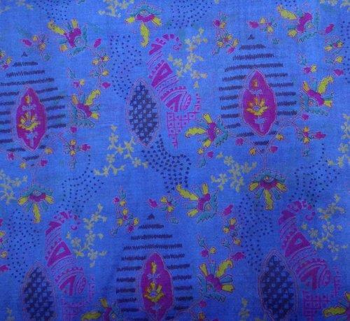 indian Saree annata misto seta riciclato tessuto tessuto paisley stampato antico donne avvolgere abito tessuto artigianale decorazioni per la casa blu sari