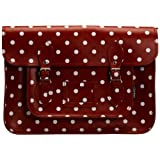Zatchels Womens Polka Dot Satchel 14.5 Cross-Body Bag