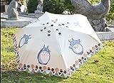 "Petty Cabin Cartoon ""My Neighbor Totoro"" Creative Design Anti-UV Sun Umbrella Triple Folding UV Protected Parasol"