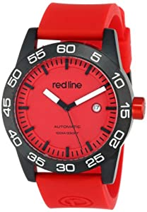 red line Men's RL-50045-BB-05-RD-ST Mileage Automatic Red Dial Silicone Band Watch