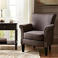 Madison Park Brooke Tight Back Club Chair (Charcoal)