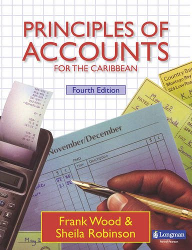Principles of Accounts for the Caribbean Student's Book