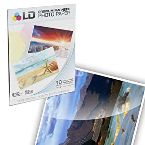 LD © Glossy Inkjet Magnetic Photo Paper 4x6 (10 Sheets)