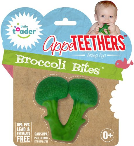 Little Toader Teething Toys, Broccoli Bites - 1